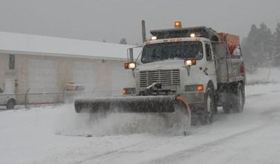 Snowplow Truck and Sanding