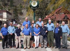 Rotary Clock and Group Photo