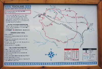 Wilson Lake, Xcountry Ski and Snowshoe Trail Map