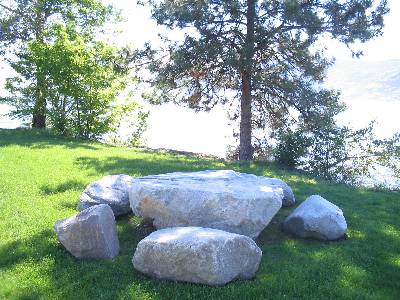 Rock Table and benches 2