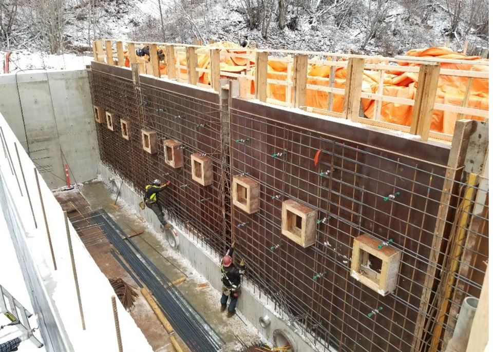 ReBar Installation on Water Treatment Plant