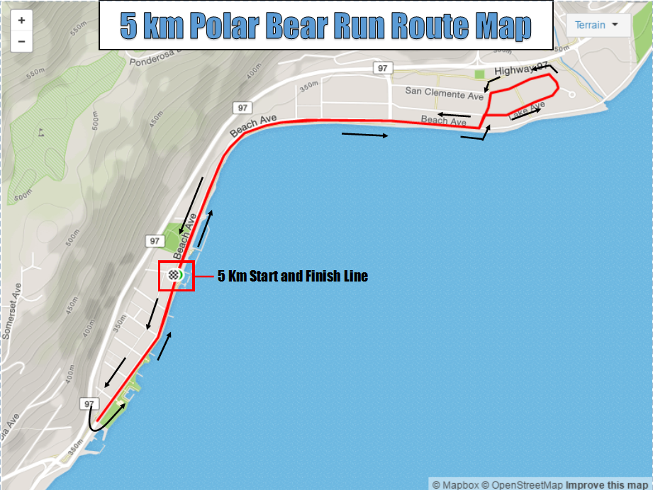 Polar Bear 5k Run Route