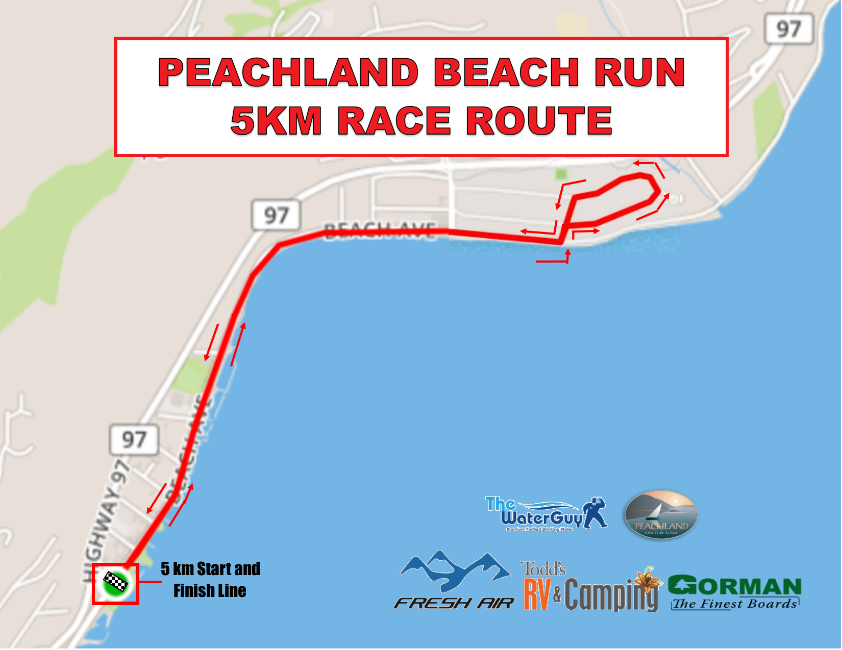 Beach Run km Map