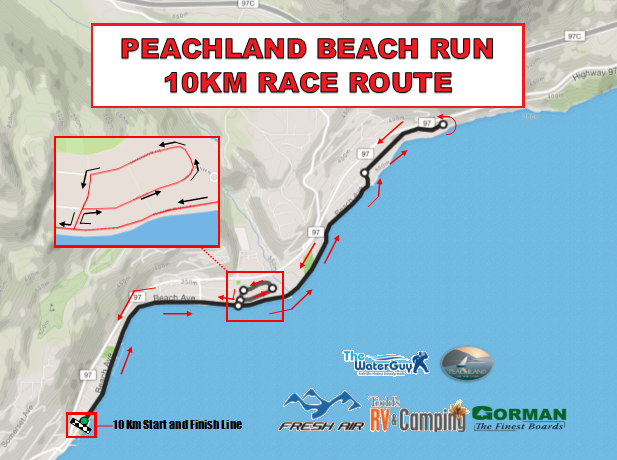 BEach Run 10km Map