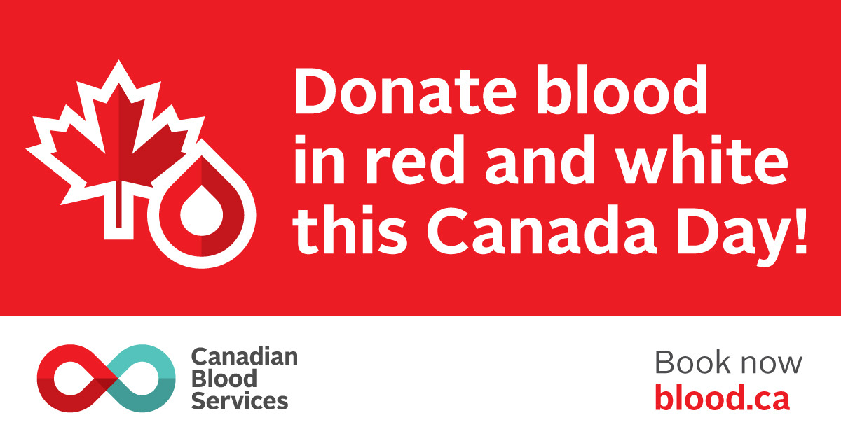 Donate Blood This Canada Day